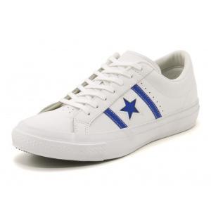 converse(コンバース) STAR & BARS LEATHER(スター&バースレザー) 1CK410 ホワイト/ブルー|asbee