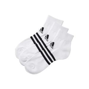 adidas(アディダス) BASIC 3P アンクル (3足組) DDV03 F91676 ホワイト/ブラック|asbee