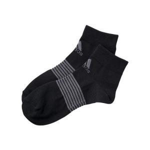 adidas(アディダス) 制菌ソックスショート DDV04 F91681 ブラック/シャープグレー|asbee