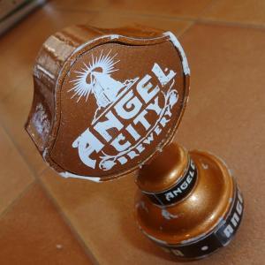 ビアタップハンドル エンジェルシティ 小ブロンズ ビールサーバーノブ シフトノブ アメリカ 雑貨 北米|aseff