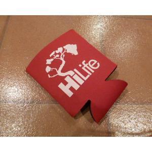 <ネコポス対応商品 > カンクーラー HiLife ハイライフ 赤 ハワイ hdm usdm 保冷 アメリカ雑貨|aseff