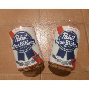 グラス パブストブルーリボングラス 2個セット 新品