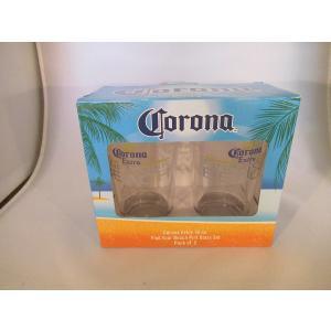 コロナビール グラス 2個セット アメリカ雑貨 ノベルティグッズ 新品 corona beer インテリア メキシコ USA|aseff