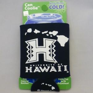 <ネコポス対応商品> カンクーラー UH ハワイ大学 紺 保冷 アメリカ雑貨 ハワイアングッズ usdm hdm|aseff