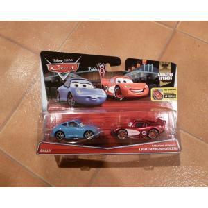 ディズニー カーズ 2台セット サリー & ライトニングマックイーン ミニカー hot wheels アメリカ雑貨 コレクション|aseff