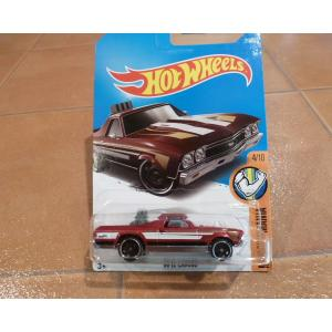 ダイキャストカー ホットウィール シボレー エルカミーノ 赤 ミニカー hot wheels アメリカ雑貨 コレクション|aseff