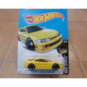 ダイキャストカー ホットウィール ホンダ アキュラ インテグラ 黄 ミニカー hot wheels アメリカ雑貨 ホットホイール|aseff