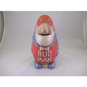 バドマン ビアマグ B 1975 オフィシャルグッズ アメリカ雑貨 バドワイザー ビンテージ アンティーク budman USA|aseff