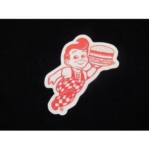 ボブズ ビッグボーイ ステッカー 赤 オフィシャルグッズ アメリカングッズ カリフォルニア <ネコポス対応商品> big boy bobs|aseff