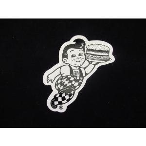 ボブズ ビッグボーイ ステッカー 黒 アメリカ雑貨 デカール カリフォルニア ダイナー <ネコポス対応商品> big boy bobs|aseff