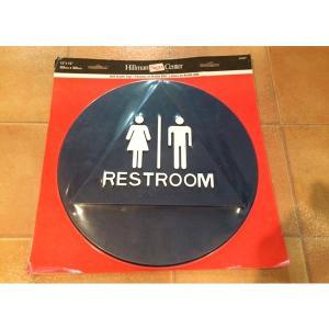 レストルーム サイン USA インテリア 標識 店舗用品 アメリカ 雑貨 restroom トイレ 案内板 ディスプレイ|aseff