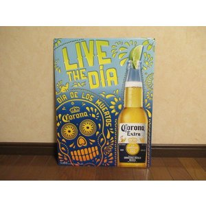 コロナ LIVE メタルサイン 角 新品 アメリカ雑貨 TIN SIGN カンバン プレート インテリア ガレージ ダイナー corona USA ブリキ|aseff