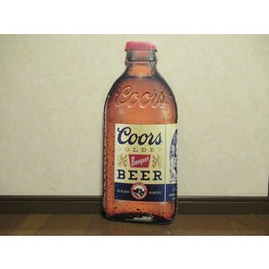 クアーズ ビール ボトル メタルサイン アメリカ雑貨 新品 カンバン サインプレート coors TIN SIGN インテリア ダイナー ブリキ|aseff