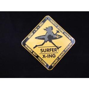 カンバン サーフアンドシー S <ネコポス対応商品> メタルサイン ハワイアン雑貨 Xing Surf-n-sea サーファー|aseff