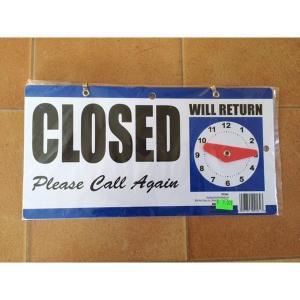 オープンクローズボード ブルー インテリア アメリカ雑貨 店舗用品 ディスプレイ OPEN CLOSE|aseff
