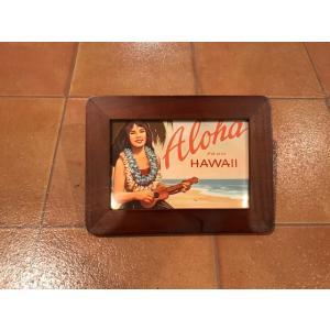 フォトフレーム 横B ハワイアン <ネコポス対応商品> ハワイ雑貨 写真立て インテリア ガレージ ディスプレイ|aseff
