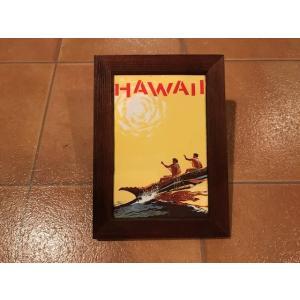 フォトフレーム 縦A ハワイアン <ネコポス対応商品> ハワイ雑貨 インテリア ガレージ 写真立て アメリカン雑貨|aseff