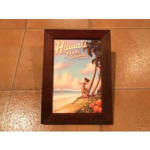 フォトフレーム 縦C ハワイアン <ネコポス対応商品> 写真立て ハワイ 雑貨 インテリア ガレージ アメリカ雑貨|aseff