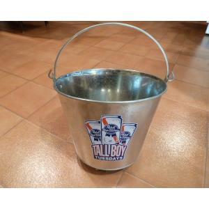 バケツ ブルーリボン スチールバケツ Pabst Blue Ribbon アメリカン ブリキ アメリカ雑貨 ダイナー ガレージ インテリア|aseff