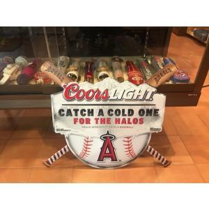 TIN SIGN メタルサイン クアーズ ロサンゼルス エンゼルス B アメリカングッズ MLB ディスプレイ angels ブリキ|aseff