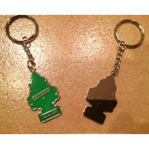 リトルツリー <ネコポス対応商品> メタル キーリング グリーン リトルツリー アメリカ雑貨 キーチェーン|aseff