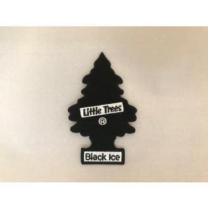 リトルツリー アイロンバッジ ブラックアイス <ネコポス対応商品> アメリカ 雑貨 ワッペン|aseff