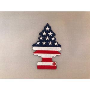 リトルツリー アイロンバッジ スターズ&ストライプス <ネコポス対応商品> アメリカ 雑貨 ワッペン|aseff