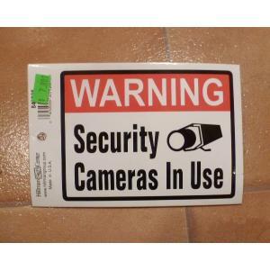 <ネコポス対応商品> セキュリティ カメラ デカール USA ステッカー 防犯 ガレージ エクステリア|aseff