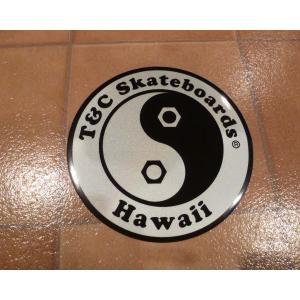 デカール T&C タウン&カントリー 丸 L シルバー アメリカ雑貨 ステッカー ハワイ 雑貨 <ネコポス対応商品>|aseff