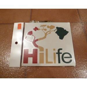 <ネコポス対応商品> デカール HiLife ハイライフ ラスタ アメリカ雑貨 ステッカー ハワイ 雑貨|aseff
