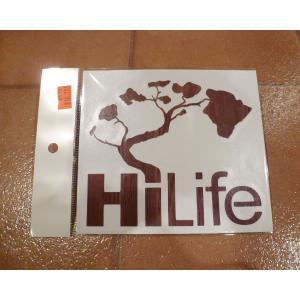 デカール HiLife ハイライフ ウッド アメリカ雑貨 ステッカー ハワイ 雑貨 <ネコポス対応商品> aseff