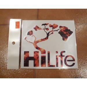 <ネコポス対応商品> デカール HiLife ハイライフ フレア アメリカ雑貨 ステッカー ハワイ 雑貨|aseff