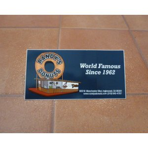 バンパー デカール ランディドーナツ ステッカー アメリカ雑貨 ロサンゼルス <ネコポス対応商品>|aseff