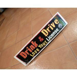 バンパーステッカー Drink Drive アメリカ雑貨 バンパーデカール ロサンゼルス usdm hdm jdm <ネコポス対応商品>|aseff
