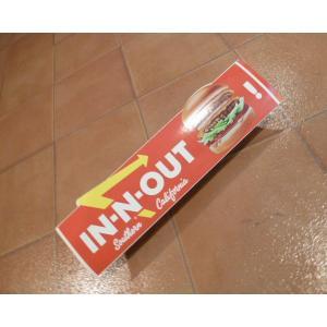 <ネコポス対応商品> バンパーデカール In Out インナウトバーガー アメリカ雑貨 バンパーステッカー カリフォルニア|aseff