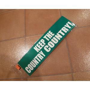バンパーデカール KEEP THE COUNTRY ハワイ ステッカー アメリカ雑貨 ステッカー キープザカントリー|aseff