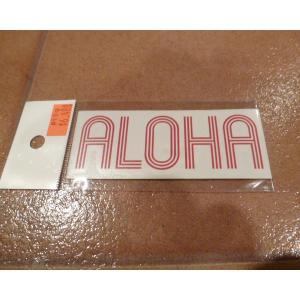 デカール T&C タウン&カントリー ALOHA レッド アメリカ雑貨 ステッカー ハワイ 雑貨 <ネコポス対応商品> aseff