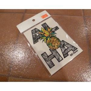 デカール T&C タウン&カントリー ALOHA パイン アメリカ雑貨 ステッカー ハワイ 雑貨 <ネコポス対応商品> aseff
