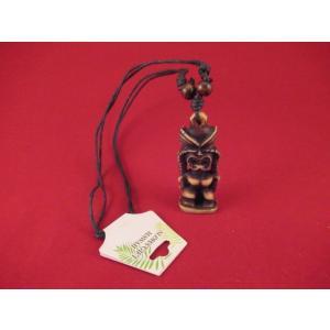 ネックレス TIKI ブラウン A 茶色 ハワイアン 新品 ハワイ雑貨 ティキ hdm <ネコポス対応商品>|aseff