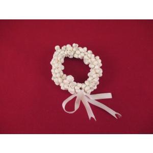ブレスレット ハワイアン シェル 新品 ホワイト 白 フラ ダンス ロコガール ハワイ雑貨 <ネコポス対応商品>|aseff