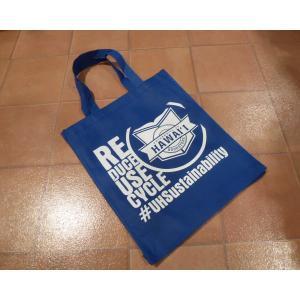 エコバッグ ハワイユニバーシティ ブルー UH ハワイ大学 公式グッズ ハワイ アメリカ 雑貨 <ネコポス対応商品>|aseff