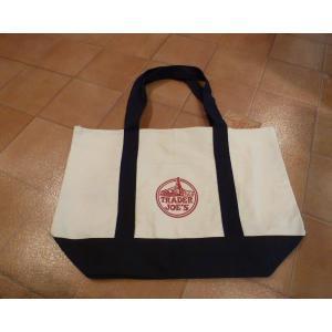 エコバッグ トレーダージョーズ Trader Joe's 白 アメリカ雑貨 トートバッグ <ネコポス対応商品>|aseff