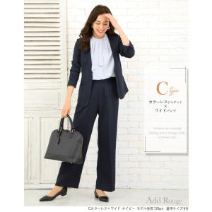 スーツ レディース ビジネススーツ リクルートスーツ テーパードパンツ 通勤 ビジネス 就活 面接 大きいサイズ 試着 あすつく|ashblond|08