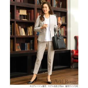 スーツ レディース ビジネススーツ リクルートスーツ ストレッチ テーパードパンツスーツ 通勤 ビジネス 就活 面接 大きいサイズ 試着 あすつく ashblond 05