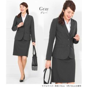 スーツ レディース リクルートスーツ 女性 スカートスーツ 2点セット オフィス 通勤 ビジネス 就活 面接 大きいサイズ 40代 試着 あすつく ashblond 14