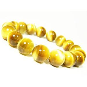 ゴールドタイガーアイ/金運天然石 パワーストーンブレスレット12mm/1点もの|ashiya-rutile