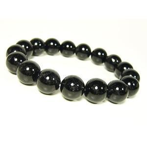 ブラックルチル/天然石パワーストーンブレスレット/12mm/1点もの|ashiya-rutile