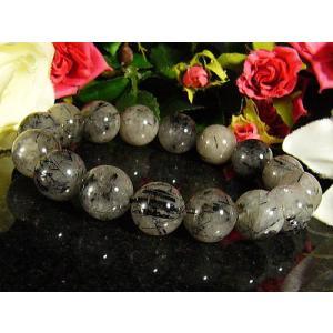 ★完売御礼★ブラックルチル/天然石パワーストーンブレスレット/13mm/1点もの|ashiya-rutile