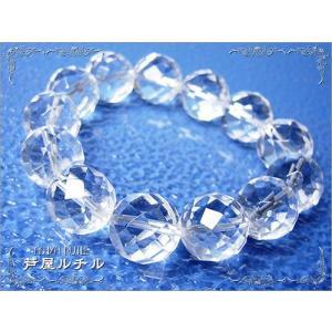 パワーストーン水晶/ブレスレット14mm|ashiya-rutile