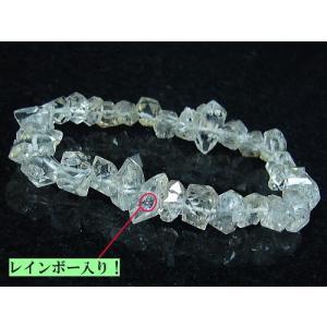 ≪完売御礼≫ハーキマーダイヤモンド/天然石パワーストーン/レインボー入り/1点もの|ashiya-rutile